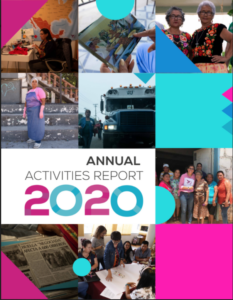 Cover page of ProDESC's 2020 ANNUAL ACTIVITIES REPORT