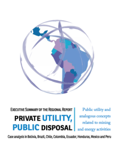 executive summary of the regional report Private utility, public disposal